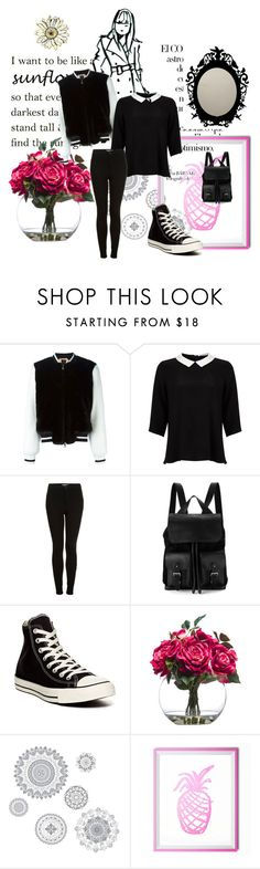 """""""First Day Outfit"""" by charlese-b on Polyvore featuring Arco, N°21, Lipsy, Topshop, Aspinal of London, Converse, Lux-Art Silks and WallPops"""