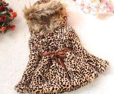 FREE SHIPPING Leopard Faux Fur Jacket for Girls-Leopard