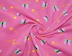 Stoffe uni - Jersey rosa,  Schmetterlinge  - ein Designerstück von tausendschoenes bei DaWanda Uni, Etsy, Pink Butterfly