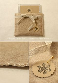 DIY photography packaging // DVD cases // use felt sheets! winter oatmeal edition (fig. 5)