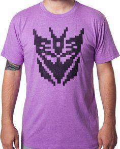 Pixel Decepticon Logo T-Shirt - Transformers T-Shirt