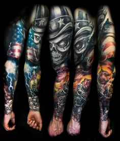 infantry tattoos | Back to Post :Description of Full Sleeve Tattoos
