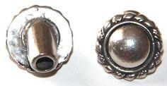 Cierre botón antiguo 20mm, paso 5.2mm, zamak baño de plata. http://nellass.com/categories/CUENTAS-Y-ABALORIOS/ZAMAK/cierres/