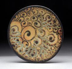 Daphne Hatcher Platter Spiral Tattoo.jpg   by clayglazepots