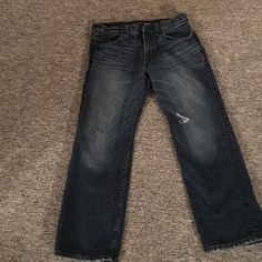 Men's jeans 100% cotton men's Blake loose fit boot cut express jeans. Great condition size 32 x 30 Express Jeans Boot Cut