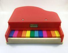 vintage toy piano