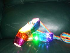 How to put rainbow sequins on your pointe shoes