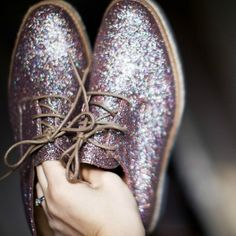 glitter brogues