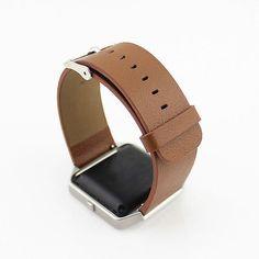 Leather/Stainless Steel Watch Band Strap Bracelet For Fitbit Blaze Smart Watch