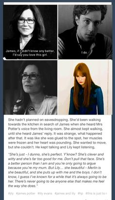 love this. I really wish we would get the stories of Harry's Parents, and what they and they're families were like during their Hogwarts' years.