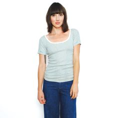Curator - MAISIE STRIPED TEE, $66.00 (http://www.curatorsf.com/maisie-striped-tee/)