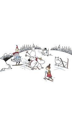 Moomin Wallpaper, Iphone Wallpaper, Japanese Illustration, Illustration Art, Finland Trip, Winter Drawings, Tove Jansson, Moomin Valley, Christmas Cartoons