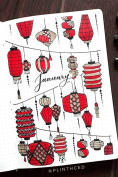 Check out the 30 best January BULLET JOURNAL monthly cover ideas for inspiration! Bullet Journal Cover Ideas, January Bullet Journal, Bullet Journal Lettering Ideas, Bullet Journal Notebook, Bullet Journal School, Bullet Journal Inspo, Bullet Journal Spread, Bullet Journal Ideas Pages, Journal Covers