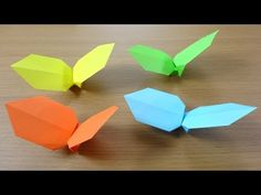 折り紙「くるくるプロペラ」作り方 Origami Spinning Blades - YouTube