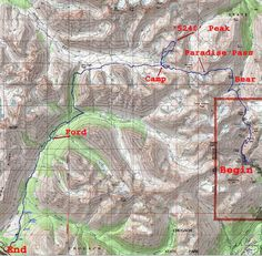 Grizzly Bear Lake topo map