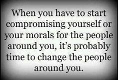 Compromising yourself
