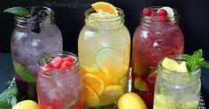 5 skvelých receptov na osviežujúce vody ochutené ovocím a bylinkami. Recepty na nesladený nápoj, ktorý prospieva aj nášmu zdraviu. Príprava, ovocie, nápady
