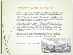 Dailey Family Tree - page 24 Robert Erastus Dailey School & Marriage