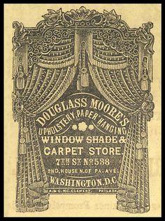 douglass moore's window shade and carpet store. #ephemera
