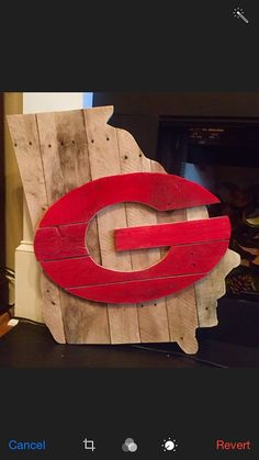 State Of Georgia Pallet Football G Wood Sign By MillpondMoss