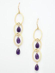 Darkish ruby earrings
