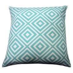 Finlay & Smith Diamond Print Cushion - 40x40cm Blue