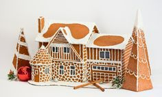 Custom-Made Faux Gingerbread Houses, modeled after any home you choose, by DaydreamHunter on Etsy #gingerbread #house #gingerbreadhouse #custom #cookie #decor #decoration #home #holidays #winter #gift #diy #model #etsy #daydreamhuntercreations