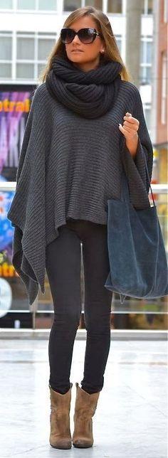 #street #style fall / shades of gray