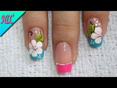 ♥DISEÑO DE UÑAS FLORES ¡MUY FÁCIL! - FLOWERS NAIL ART - FRENCH NAIL ART - NLC - YouTube Manicure, Lily, Nail Art, Painting, Beauty, Youtube, Videos, Toenails Painted, Designed Nails