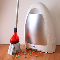 The Smart Touchless Vacuum by EyeVac makes an ordinary dustpan look like a tool from the stone age. This innovative new machine now allows you to sweep all that dirt and debris into a very saavy vacuu