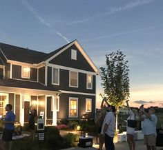 We had a great time at the Solar Eclipse party today at #DurhamFarms! Thank you to everyone who stopped by our Welcome Home Center. Here's a photo of the event during the totality. It was so dark the automatic lights came on at 1:29pm!