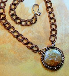 Copper Wire Wrapped Jasper Focal Stone  by AllowingArtDesigns, $42.00