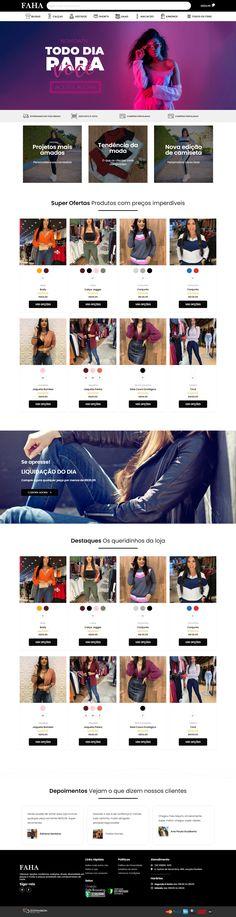 Loja Virtual de Roupas. Oferecer opções modernas, coleções atuais, diversidade em peças e moda a preços acessíveis são compromissos da FAHA.