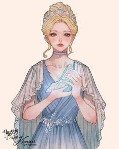 She grew up to be a 👑 ~ Queen ~ Disney Princess Art, Anime Princess, Disney Fan Art, Cinderella Art, Character Inspiration, Character Art, Character Design, 5 Anime, Anime Lindo