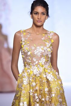 Ralph & Russo: Metallic yellow and rose gold hues, featured in the Spring/Summer 2016 collection