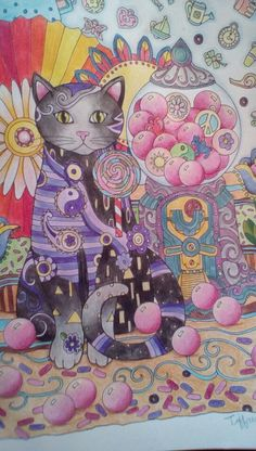 Creative Cats coloring book.  Used Steadtler and Irojiten colored pencils.