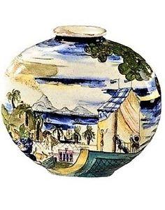 Maria Likarz (Austrian, Title: Vase , ca. 1920 Medium: faience, enameled Size: 18 x 19 x 7 cm. Glass Art, Art Deco, Designers, Porcelain, Vase, Ceramics, Female, Medium, Ceramica