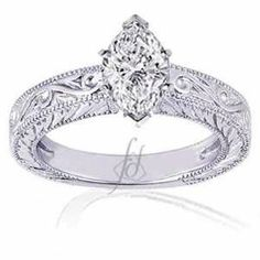 15 CT Hand Engraved 3 stone setting Ladies Round cut Cubic Zirconia