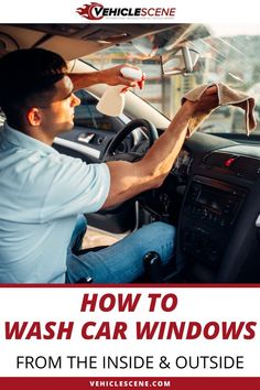 In this guide we detail how to clean car windows at home: Quickly, easily, and most importantly thoroughly. It's easier than you think. Cleaning Inside Of Car, Cleaning Car Windows, Car Cleaning Hacks, Car Hacks, Clean Car Windows Inside, Inside Car, Car Wash Tips, Performance Engines, Diy Car