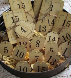Numbers ~ Oh the things I can use these for.  Love for French Decorating.