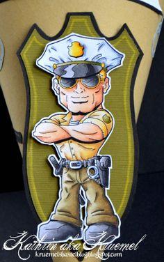 Copic Marker Europe: Police Alert. Skin: E13, E11, E51, E30, E000 Trousers: E87, E81, YG91 Shirt: Y28, E31, Y21 Shoes, Belt etc: 100, T7, T5, T3, T1 Hat: C4, C1, C00 Green Patch: YG97, YG95, YG91 Golden accessoires on the hat: YR24, Y17, Y13, Y00 Hair: YR23, Y21, Y00