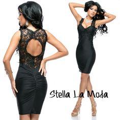 $29.99 Lace Splice Curve-hugging Party Dress  #dress #sexydress #LBD #partydress @stellalamoda