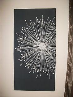 dandelion art...easy. Love this!