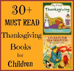Thanksgiving Books for Children- LOVE this list!