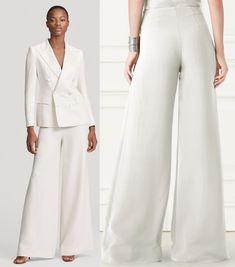 5cfd86e47b35 Meghan s trousers are the Ralph Lauren Charmain Silk Wide-Leg Pant. The   1690 pair