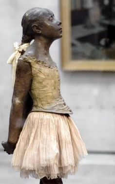 "Degas   ""Little Dancer of Fourteen Years"" 1881  - my fave sculpture of all times seen this in Paris and NYC -"