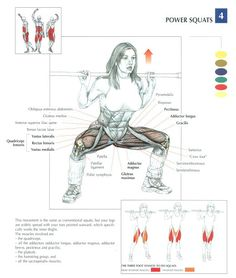 Power squats - leg excersise ~ Re-Pinned by Crossed Irons Fitness