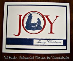 Joyful Nativity Stampin'UP! stamp set.  A versatile set.  See examples of the cards I have made using the set on my blog:  http:www.stampinwithpat.com