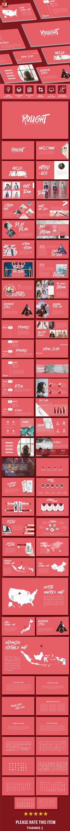 Rought - Multipurpose PowerPoint Template - PowerPoint Templates Presentation Templates