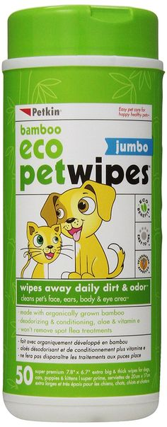 Petkin Jumbo Petwipes, 50-Count Pack (Pack of 4) >>> Continue to the product at the image link. (This is an affiliate link) #DogLovers